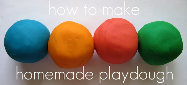 Make your own playdough at home this week!