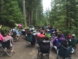 Worship Service at Church Campout!