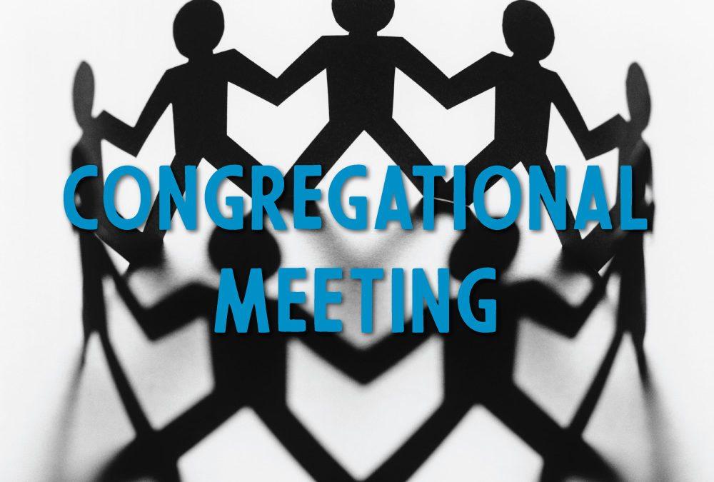 Congregational Meeting and Potluck